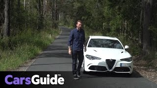 Alfa Romeo Giulia Quadrifoglio 2017 review | first road drive video