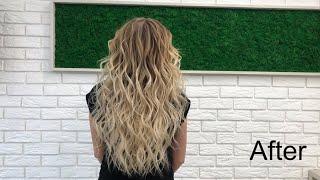 Прическа на длинные волосы Укладка легкие пляжные локоны