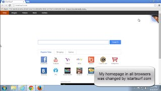 How to remove (uninstall) istartsurf.com. Fixing homepage in browser (IE,FF,Chrome)