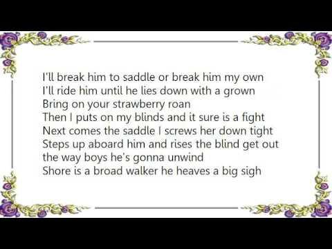 Chris LeDoux - Strawberry Roan Lyrics