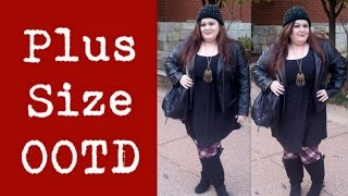 Plus Size OOTD: Plaid Leggings Thumbnail