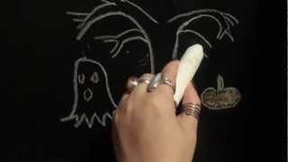 Quiet Blackboard Drawing- relaxation/ asmr