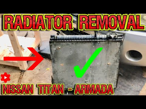 How to replace radiator on Nissan Titan – Armada easy