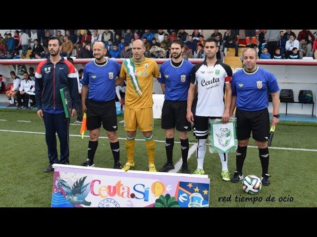 """Declaraciones técnicos de las selecciones de Ceuta y Andalucía, """"X Copa de las Regiones UEFA"""", jugado el 10-02-2016"""