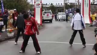 やまねこマラソン開会式オープニング男子中学ダンス