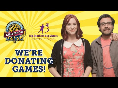For every event registered on tabletopday.com, Geek & Sundry is donating a board game to Big Brothers Big Sisters pf Greater Los Angeles for International ...