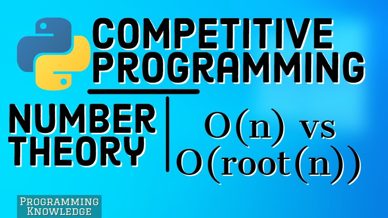 Number Theory for Competitive Programming-Compare Primality Test in O(n) vs O(root(n))