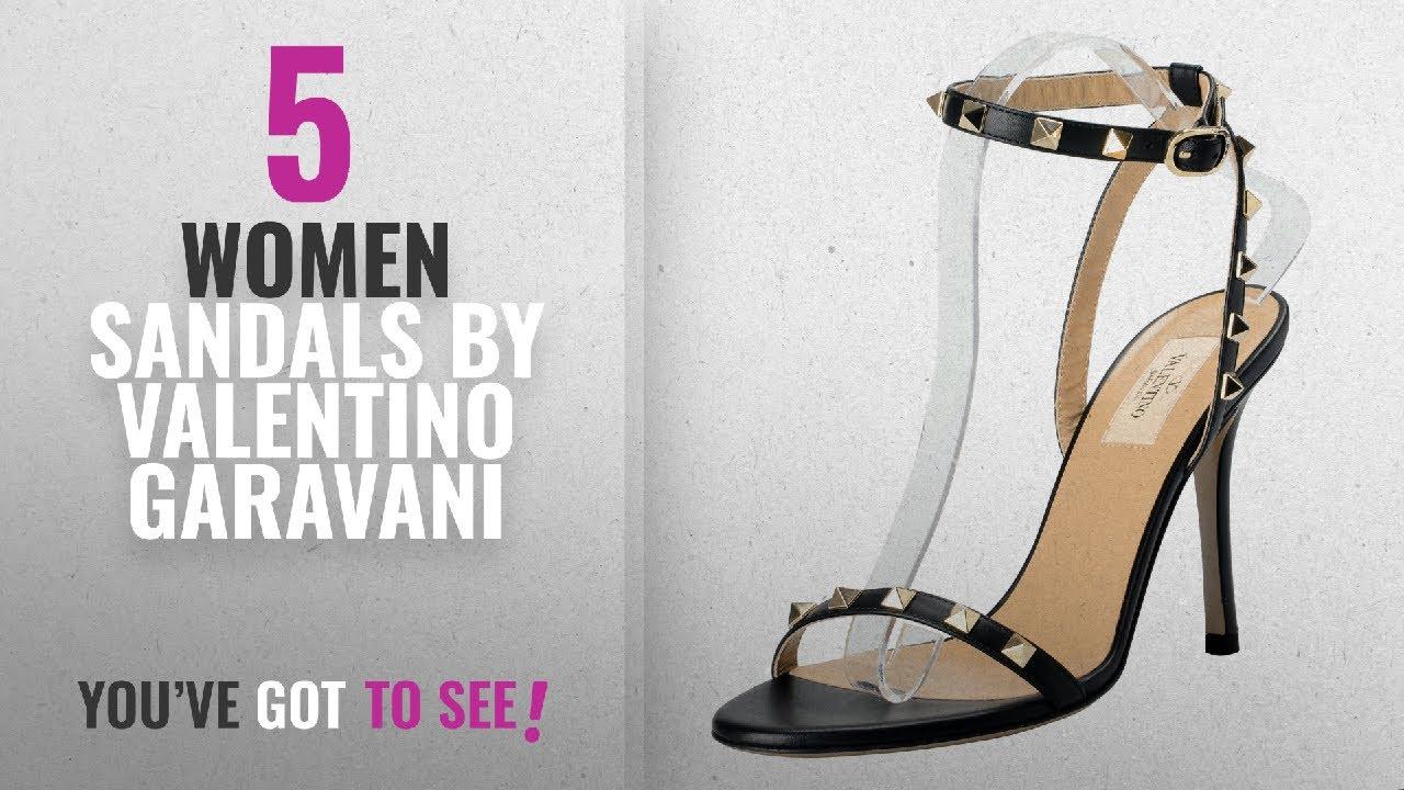 d07d1ab905d Top 5 Valentino Garavani Women Sandals  2018   Valentino Garavani Women s  Rockstud Leather Black