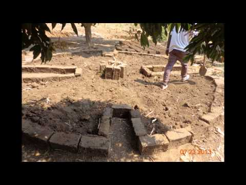 A tutorial on how to build an earth-brick kitchen garden