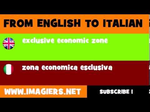 How to say exclusive economic zone in Italian