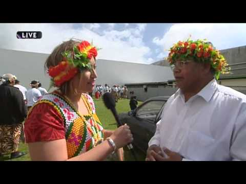 Traditional Tuvalu game played on Tuvalu Independence Day Celebrations