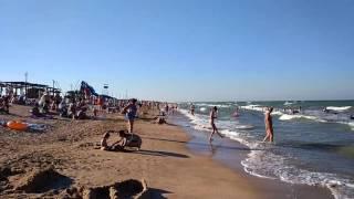 Счастливцево 2016 Щасливцеве пляж Азовское море отдых(Обзор отдыха в Счастливцево., 2016-07-15T07:35:22.000Z)