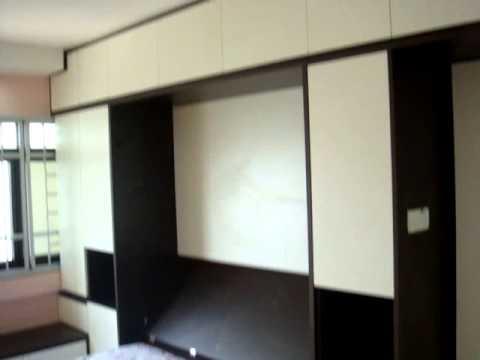 HDB AMK Blk700C Hidden Toilet,Hidden  AirConWindow,HiddenWallBed,ModularSystem.Custom Make2Room Size
