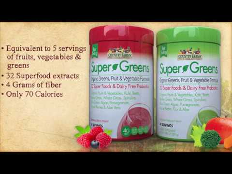 Social media Super Greens Natural Smoothie