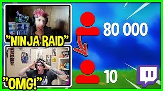 Ninja raids small stręamer with great inspirational story