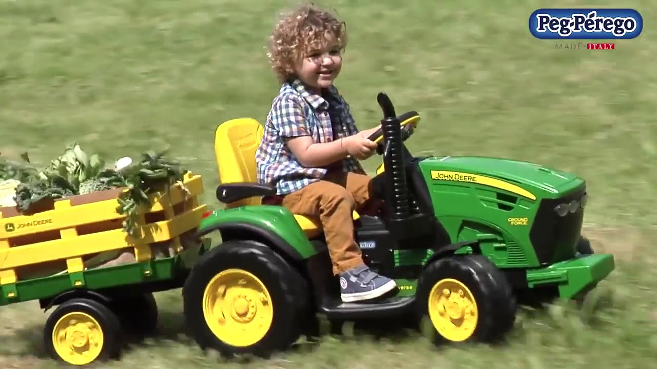 tracteur lectrique 12 v pour enfants john deere ground. Black Bedroom Furniture Sets. Home Design Ideas