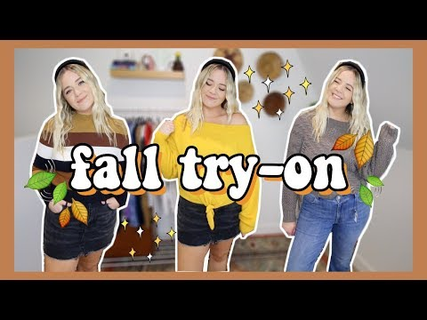 A COZY MIDSIZE FALL TRY ON! | SWEATERS, SKIRTS & MORE