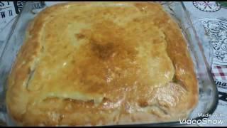 Пирог с рисом и яйцом! Легко и вкусно!