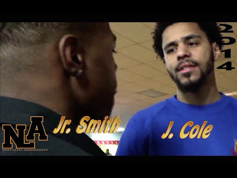 J Cole and Dennis Smith Jr @desmith4 (#1 pg in the nation) finally meet!! #Dreamville