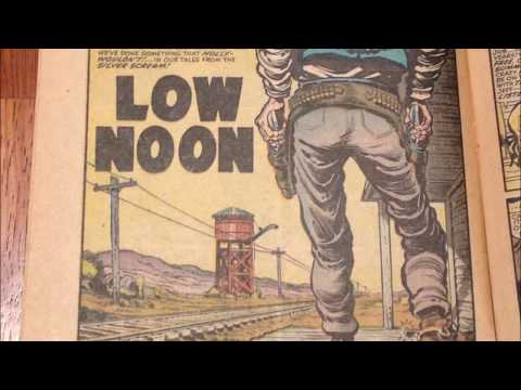 "COMIC MAN PRODUCTIONS: ""LOW NOON"" BLACK CAT MYSTERY COMIC BOOK STORY 1953"