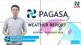 Public Weather Forecast Issued at 4:00 PM August 19, 2018