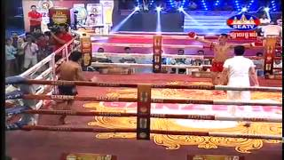 Porn Phalla vs Nung Ou Marc(Muy Thai) at SEATV Khmer international Boxing