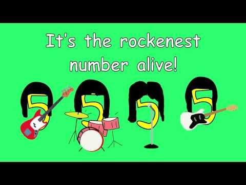 5 Times Table Song  Rockn Five!  from Multiplication Jukebox CD  Freddy Shoehorn