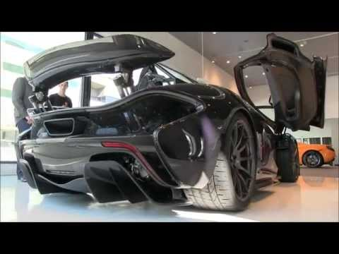 McLaren P1 supercar in Beverly Hills! Start up and electric motor