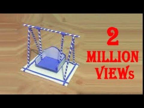 How to make paper swing | कागज का झूला कैसे बनाये | کاغذ سوئنگ بنانے کا طریقہ | Craft | Trina Videos