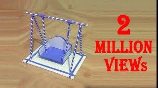 How to make paper swing   कागज का झूला कैसे बनाये   کاغذ سوئنگ بنانے کا طریقہ   Craft   Trina Videos