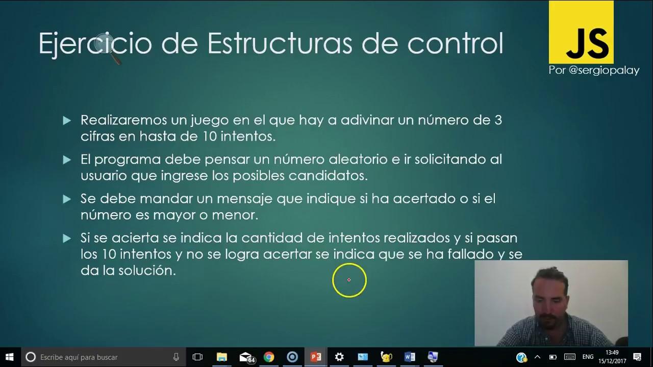 Curso De Javascript En El Aula 3 6 Estructura De Control Adivinar Número