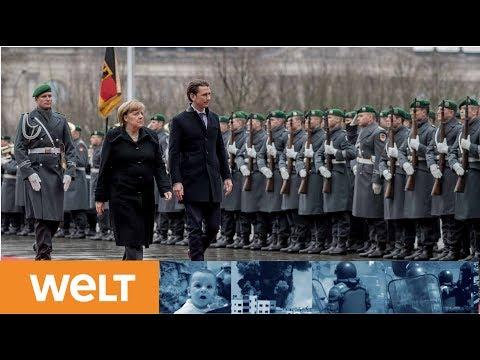 Antrittsbesuch: Sebastian Kurz macht Angela Merkel seine Aufwartung