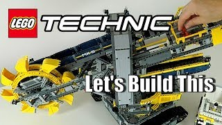LEGO Bucket Wheel Excavator Time Lapse Speed Build and Review