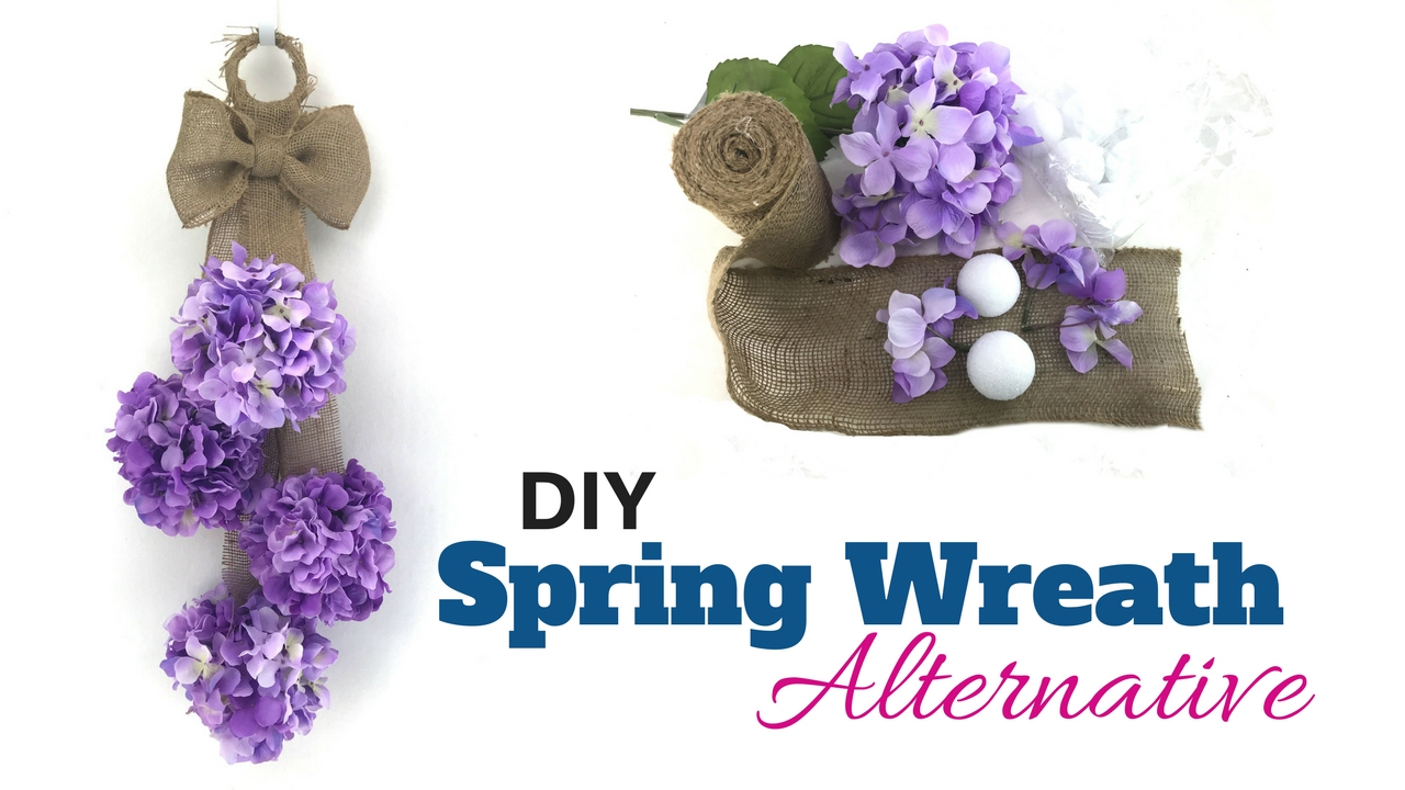 Diy Spring Door Hanger Spring Wreath Alternative Youtube