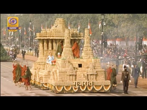 Gujarat tableaux represents Sun Temple, Modhera at Republic Day Parade| Mid Day News| 26-1-2021