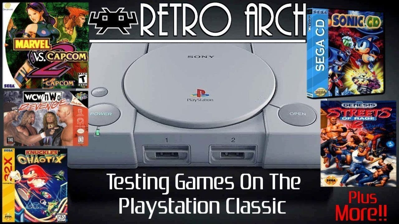 Playstation Classic Running Dreamcast / N64 / Sega CD / 32X / Genesis / GBA  using RetroArch