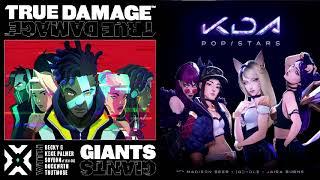 True Damage vs K/DA Mashup! [Giants x Pop/Stars] Video