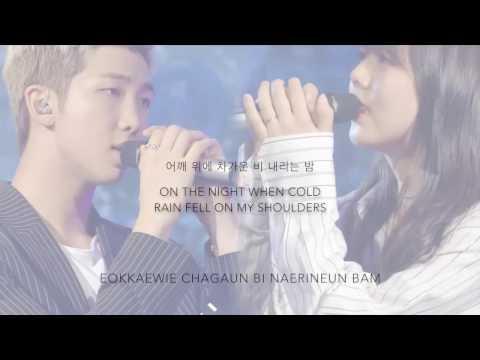 BTS Rap Monster & Yuiko - 'Umbrella (우산)' (Cover) [Duet Song Festival] [Han Rom Eng lyrics]