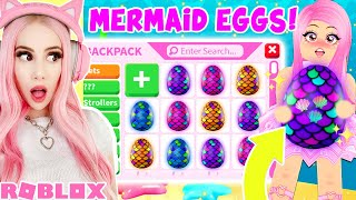 I Got ALL The *BRAND NEW* MERMAID EGGS In Adopt Me... Roblox Adopt Me