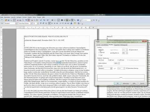 06 Zeichen hochgestellt und tiefgestellt darstellen - OpenOffice / LibreOffice Writer