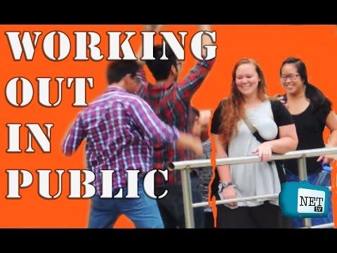 NEPALI PRANK - WORKING OUT IN PUBLIC - NET TV
