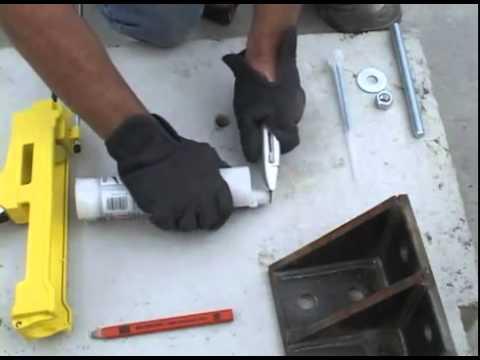 Basic Anchor Installation Training Simpson Epoxy tie ET-22