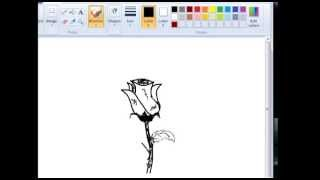 How To Draw Rose bud with leaves for beginners!