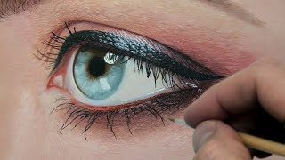 Painting a Realistic Eye  Episode 194