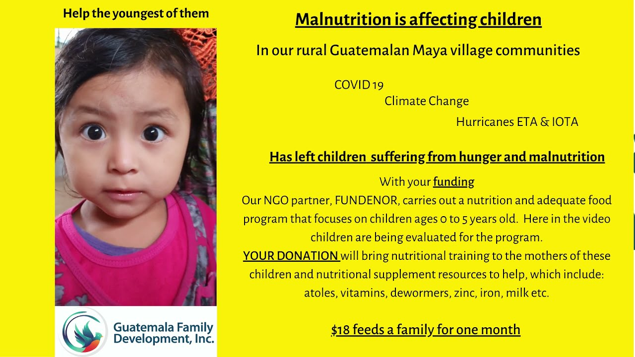 Malnourishment is affecting the littlest humans