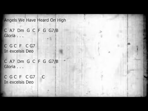Angels We Have Heard On High - Guitar/Chords/Lyrics Key of C
