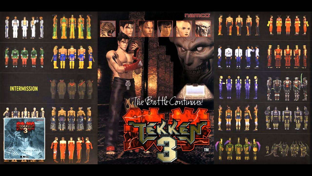 """Tekken 3 - """"Character Select (Arcade Ver.)"""" [1080p] - YouTube"""