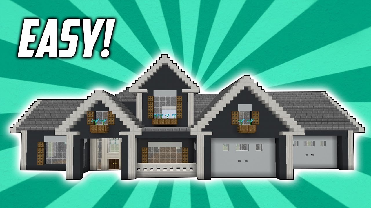 Minecraft How To Build An Easy Suburban Mansion Tutorial Youtube