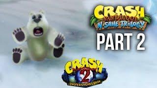 Crash Bandicoot N.Sane Trilogy Walkthrough Part 2 RIPPER ROO & BEAR IT (CRASH BANDICOOT 2 PS4)