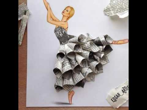 Drawing art by waste material kharasach latest video for Art and craft made by waste material